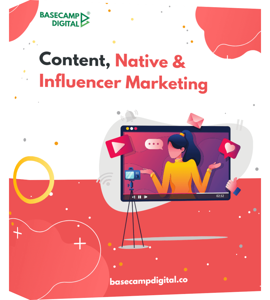 Content Native and Influencer one page product mockup