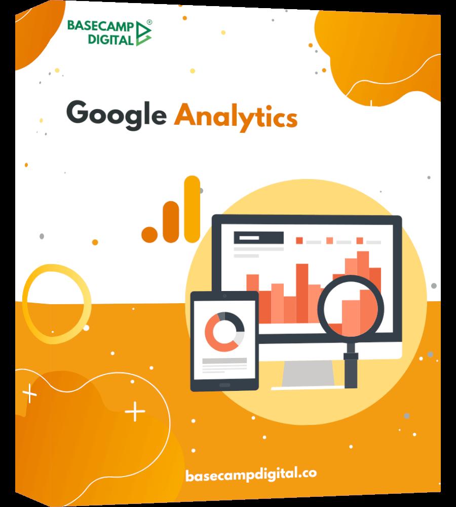 Google Analytics - one page product mockup