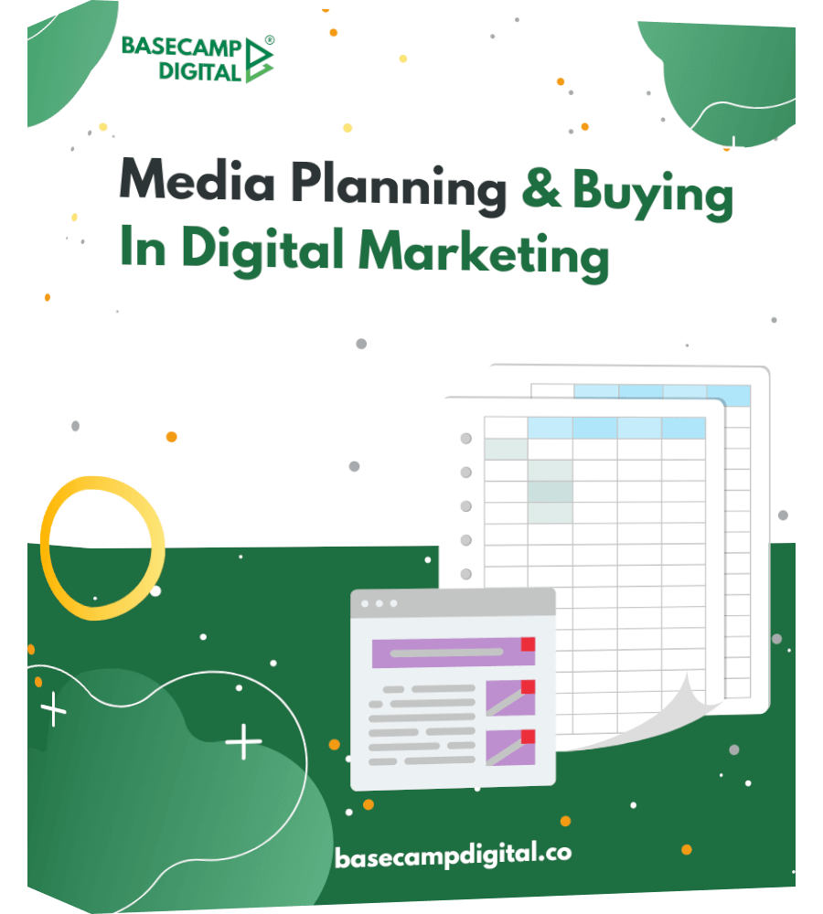 media planning one page product mockup