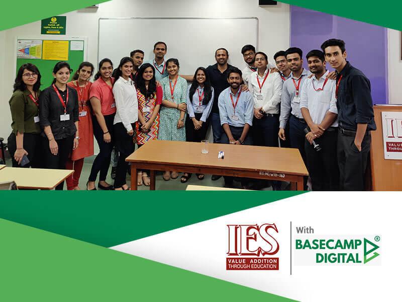 Digital Marketing Training session at IES MMS